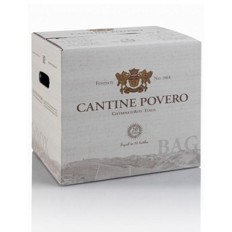 Bag in Box 20 Litri Barbera Barricata Vino Rosso Cantine Povero