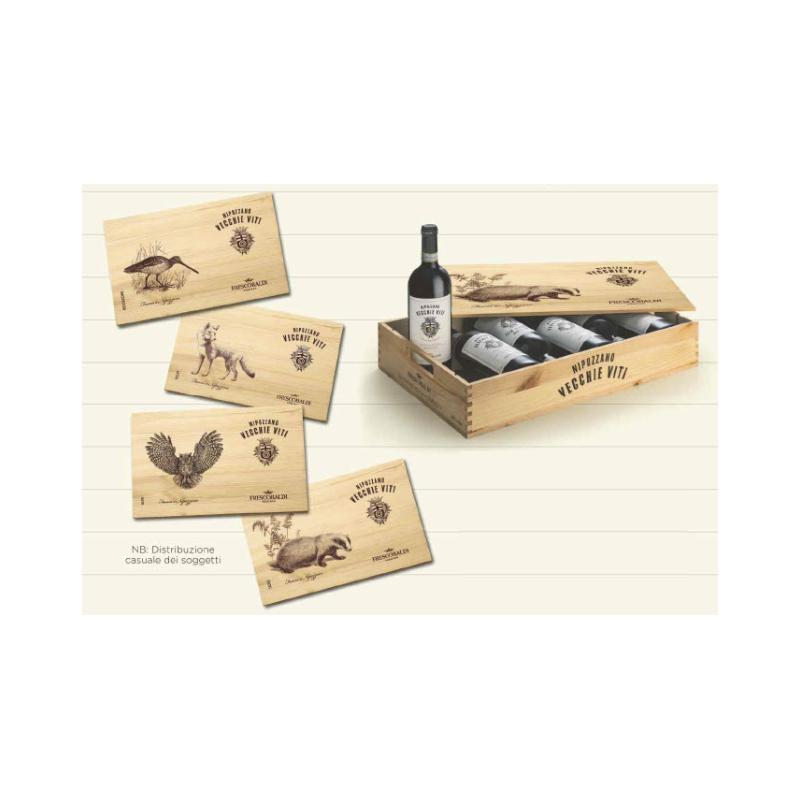 Cassetta Fauna 6 Bottiglie Chianti Rufina Riserva Nipozzano Vecchie Viti Frescobaldi