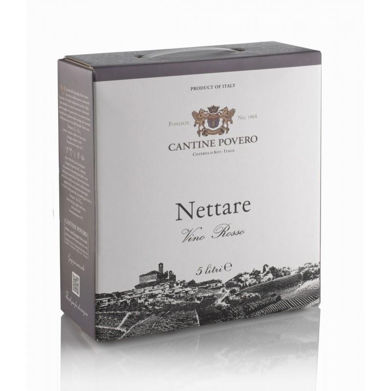 Bag in Box 5 Litri Nettare Vino Rosso da uve Nebbiolo Cantine Povero