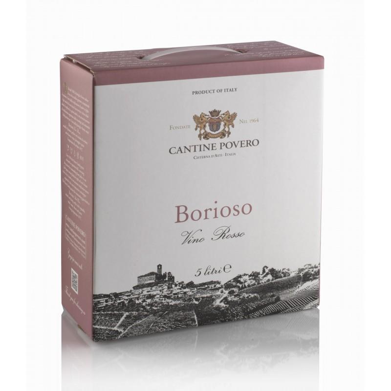 Bag in Box 5 Litri Borioso Vino Rosso da uve Bonarda Cantine Povero