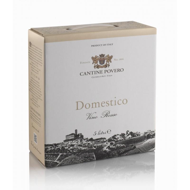 Bag in Box 5 Litri Domestico Vino Rosso da uve Dolcetto Cantine Povero