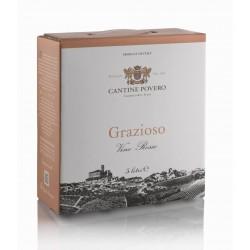 Bag in Box 5 Litri Griazioso Vino Rosso da uve Grignolino Cantine Povero